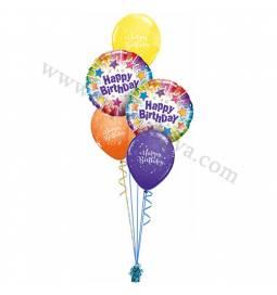 Dekoracija iz balonov za 60 let, Modra