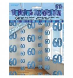 Viseča dekoracija za 60 rojstni dan, modra