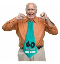 XXL Kravata za 60 rojstni dan