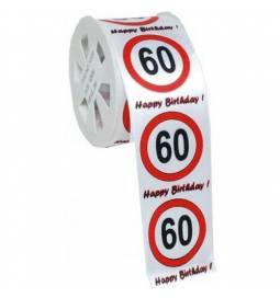 Zavijalni trak za 60 rojstni dan