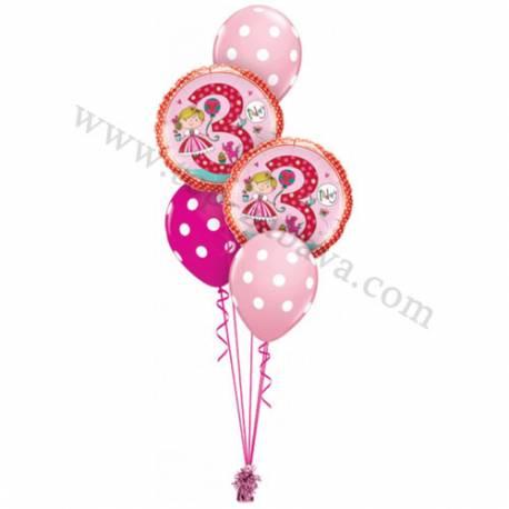 Dekoracija iz balonov 1st Birthday Pink