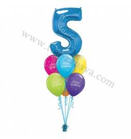 Dekoracija iz balonov 3st Birthday Pink