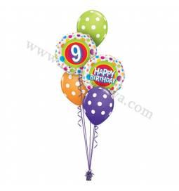 Dekoracija iz balonov 5 rojstni dan, modra