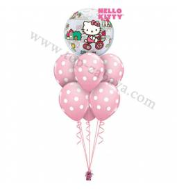 Dekoracija iz balonov Hello Kitty Bubble