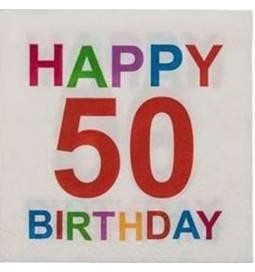 Barvni prtički za 50 rojstni dan