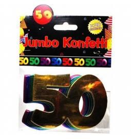 Jumbo konfeti za 50 rojstni dan, pisani