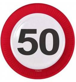 Krožniki za 50 rojstni dan, Stop znak