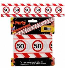 Markirni trak za 50. rojstni dan, Stop znak