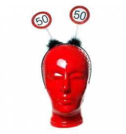 Naglavni okras za 50. rojstni dan, Stop znak