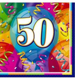 Serviete za 50 rojstni dan, Brilliant Birthday