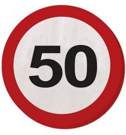 Serviete za 50 rojstni dan, Stop znak