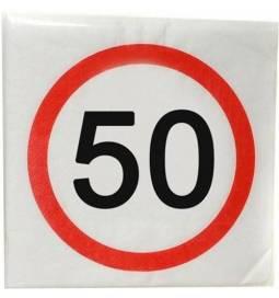 Serviete za 50 rojstni dan, Stop znak 1