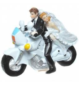 Poročni kipec Par na kolesu 1