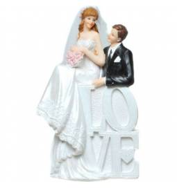 Poročni kipec Par v čolnu