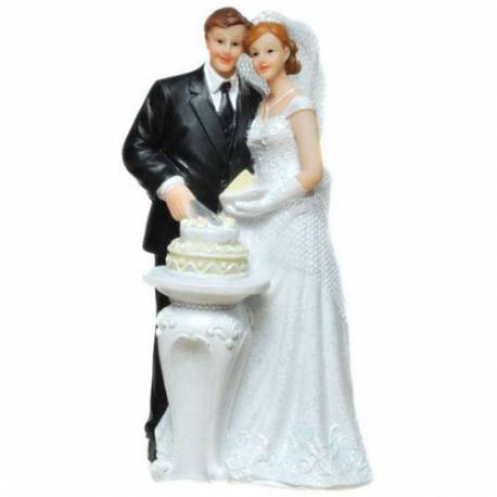 Poročni kipec Par s torto