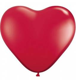 Srce baloni 28 cm, rdeči 10/1