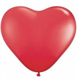 Srce baloni 15 cm, oranžni 10/1