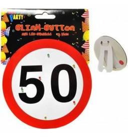 Svetleča broška za 50 rojstni dan, Stop znak