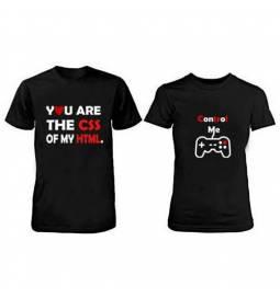 Komplet majic za pare, Best match, črni