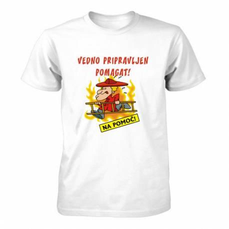 Majica za rojstni dan Vedno pripravljen Gasilec