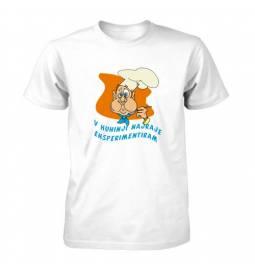 Majica za rojstni dan Kuhar rad eksperimentira