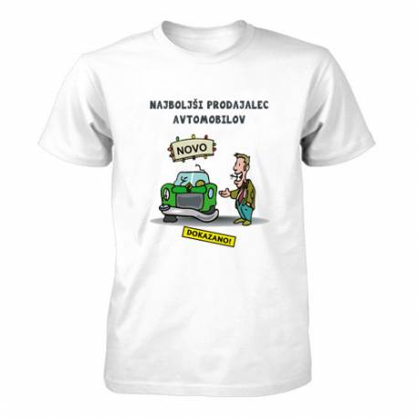 Majica za rojstni dan Najboljši prodajalec avtomobilov