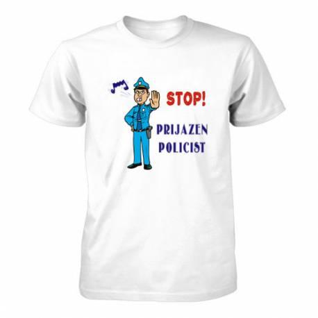 Majica za rojstni dan Stop, prijazen policist