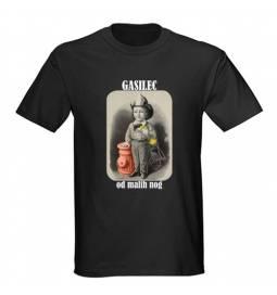 Majica za rojstni dan Gasilec od malih nog - črna