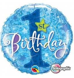 Folija balon 1. rojstni dan, Blue Stars