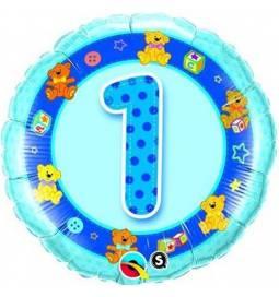 Folija balon 1. rojstni dan, Modri Medvedki