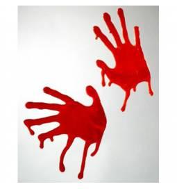 Krvava rdeča odtisa