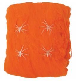 Pajkova mreža v oranžni barvi