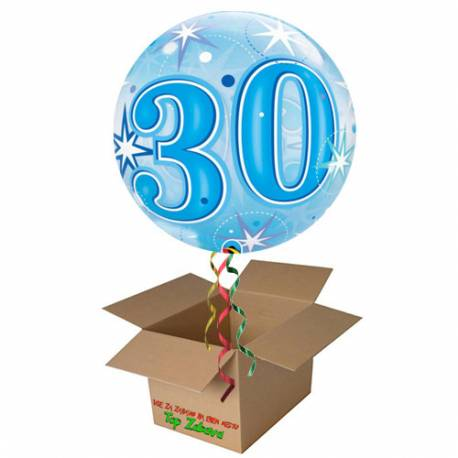 Napihnjen Bubble balon Stars 30 let, pink