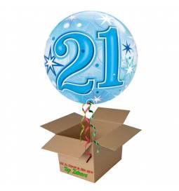 Napihnjen Bubble balon Stars 30 let, moder