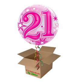 Napihnjen Bubble balon Stars 21 let, moder