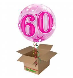Napihnjen Bubble balon Stars 50 let, pink