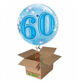 Napihnjen Bubble balon Stars 60 let, pink