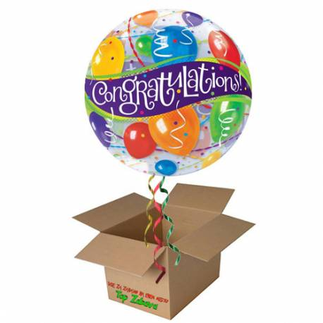 Napihnjen Bubble balon Congratulations