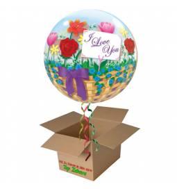 Napihnjen Bubble balon Bela srca