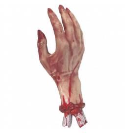 Odtrgana krvaveča roka