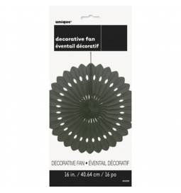 Črna dekorativna pahljača 40,6 cm