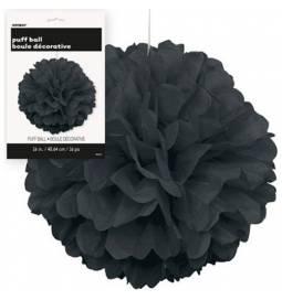 Puff Pom črn lampijon