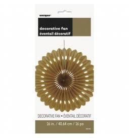 Zlata dekorativna pahljača 40,6 cm