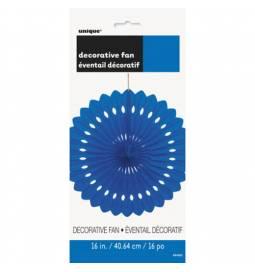 Modra dekorativna pahljača 40,6 cm