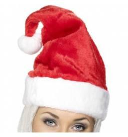 Božičkova kapa z belim cofkom