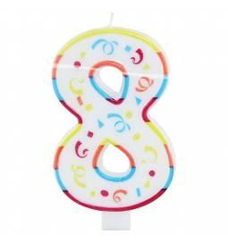 Jumbo svečka 20 cm, Sedmi rojstni dan