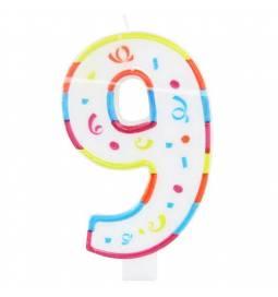Jumbo svečka 20 cm, Osmi rojstni dan