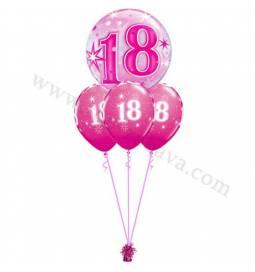 Dekoracija iz balonov za 50 let, bubble