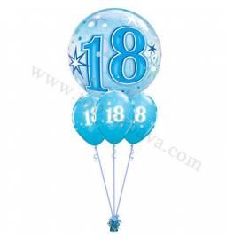Dekoracija iz balonov za 18 let, bubble pink