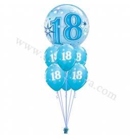 Dekoracija iz balonov 18 let, bubble pink